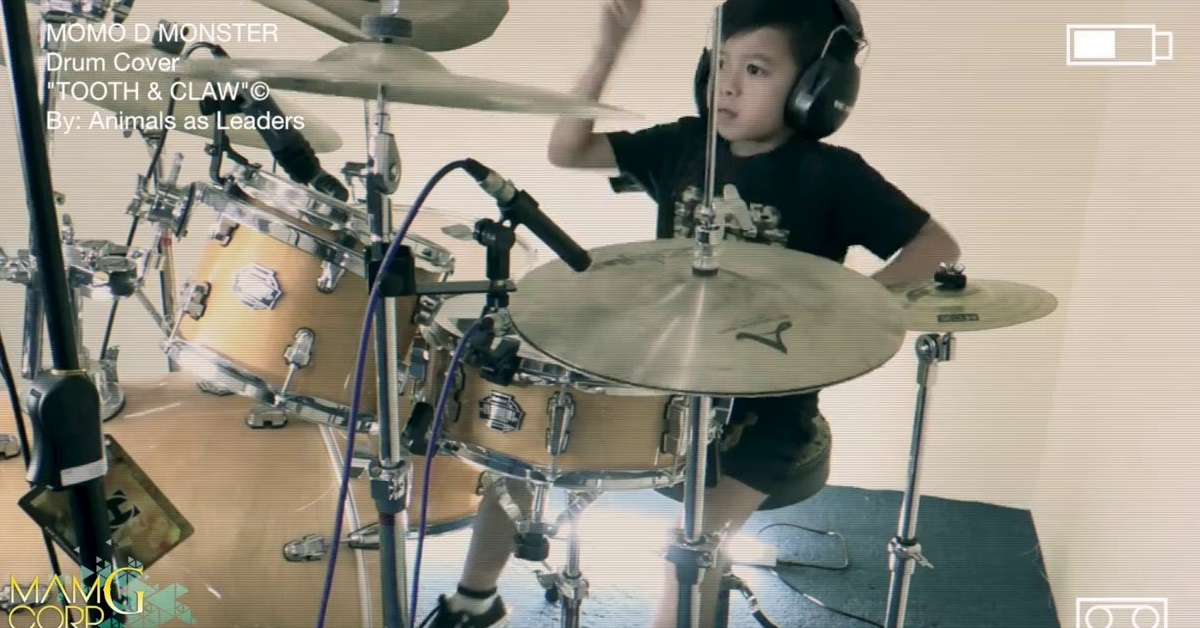 Watch This 7-Year-Old Beast Cover Animals As Leaders on the Drums