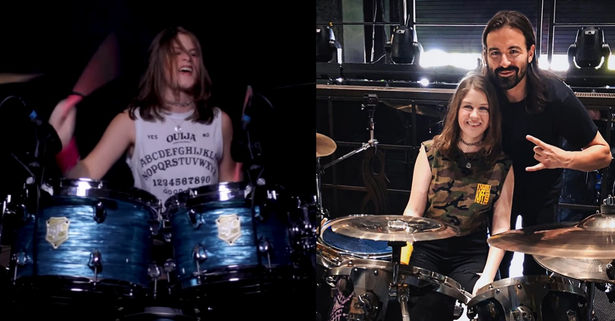 Jay Weinberg Meets 14-Year-Old Drummer Who Did a Massive 'Unsainted' Cover